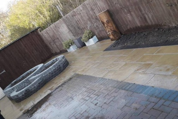 Marshalls Firestone Buff Paving Hebburn