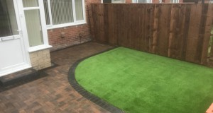 Marshalls Block Paving &  LazyLawn Artificial Lawn