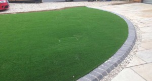 Artificial Lawns project with new Patio Paving