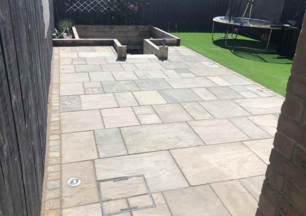 40m2 Rustic Indian Sandstone Paving South Shields